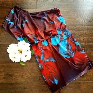 Jessica Simpson One Shoulder Floral Dress SZ 14